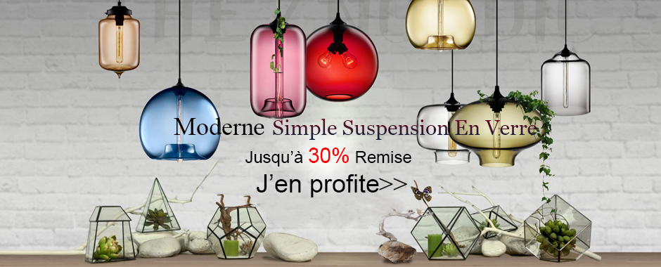 Moderne suspension en verre
